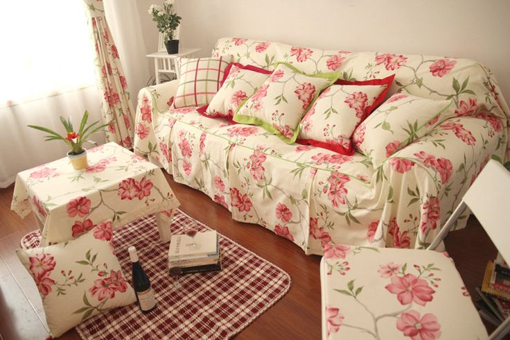 Rustic slip resistant cotton fabric sofa towel sofa set sofa cover sofa cloth flower plaid-inSofa Cover from Home & Garden on Aliexpress.com | Alibaba Group