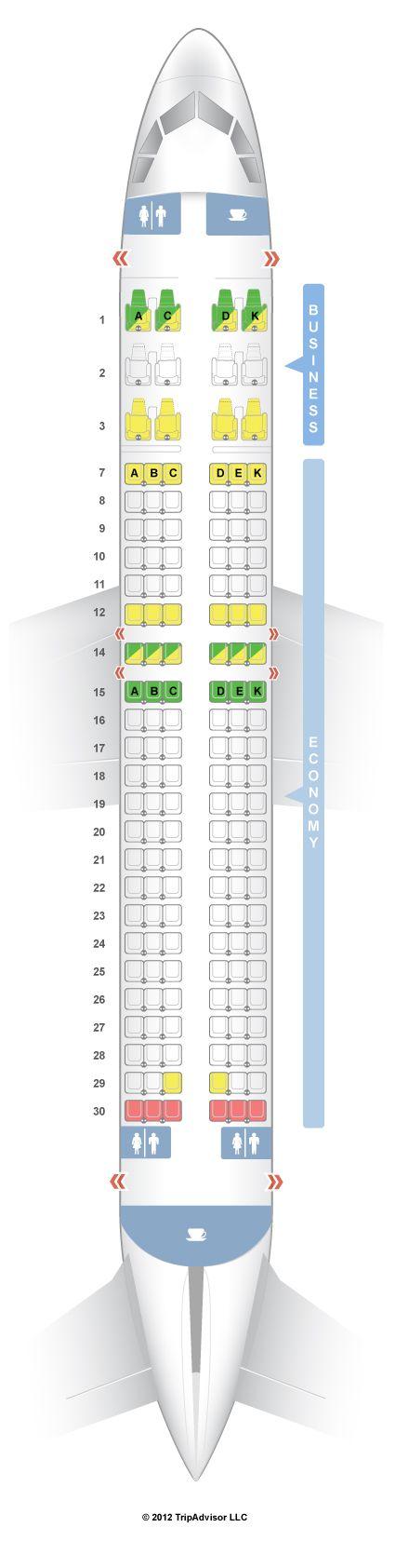 SeatGuru Seat Map Avianca Airbus A320 (320)