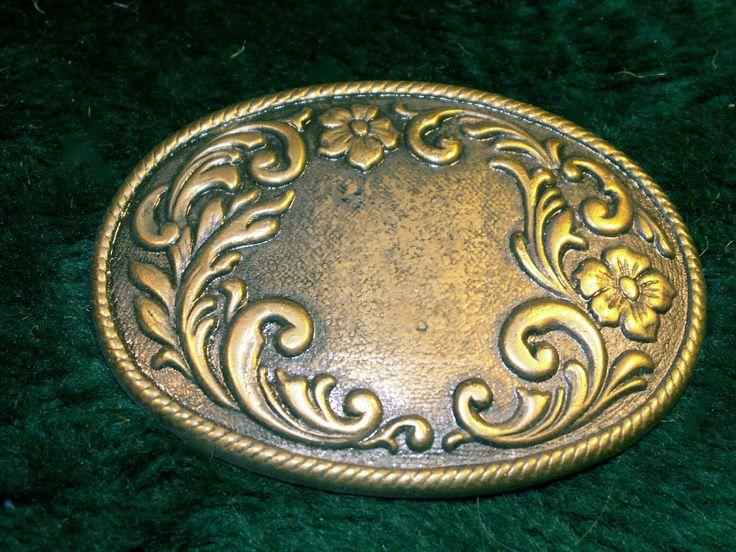 Vintage Brass western Belt Buckle