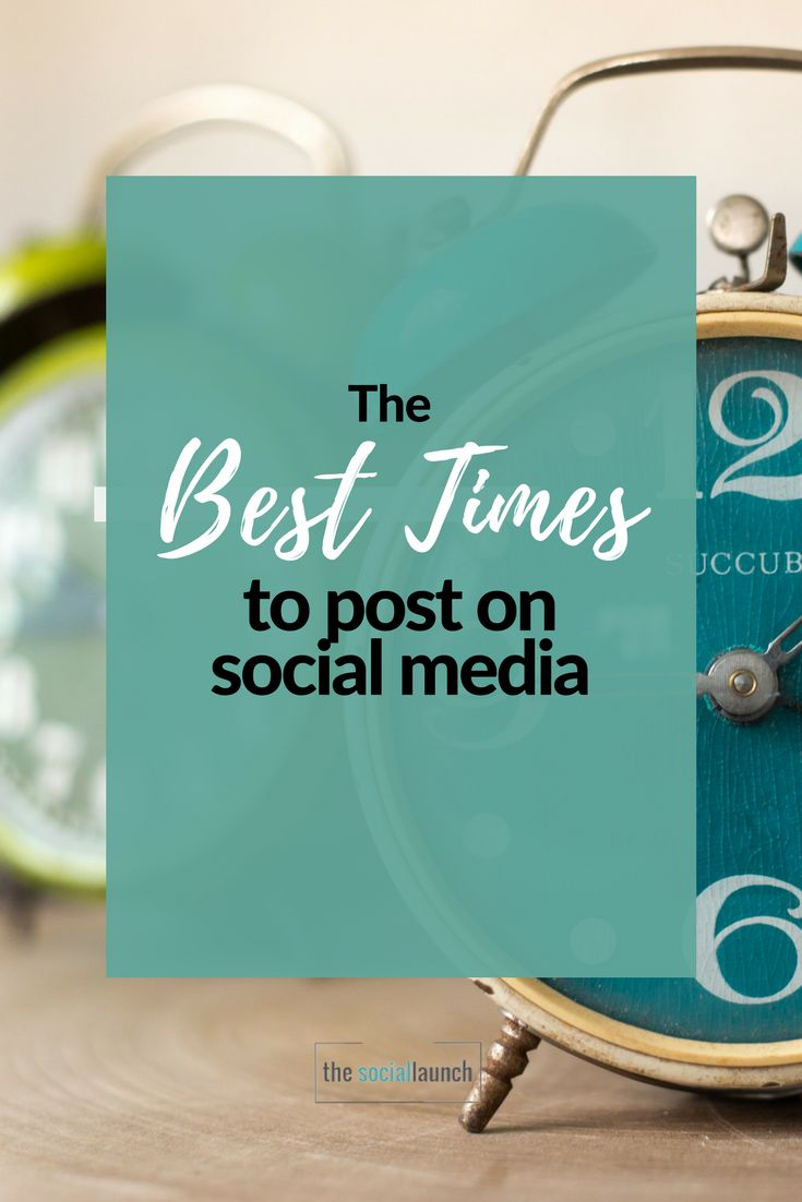 How to find the best times to post on social media via @socialmediatips