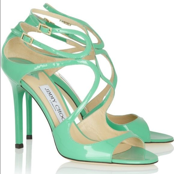 Bridal Shoes Saks: Beautiful 'peppermint' Color Jimmy Choo Heels New, Never