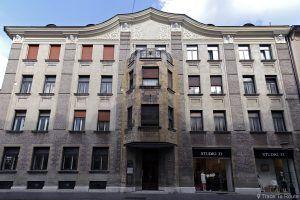 Bâtiment Art Nouveau Maison Bamberg Hôtel Alibi M14, Ljubljana, Slovénie