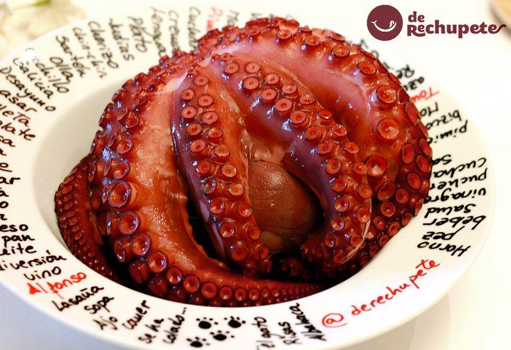 Ya no hay excusas... Con todos los secretos y trucos de Cómo cocer pulpo http://www.recetasderechupete.com/como-cocer-pulpo/13749/ Comerás pulpo como en Galicia