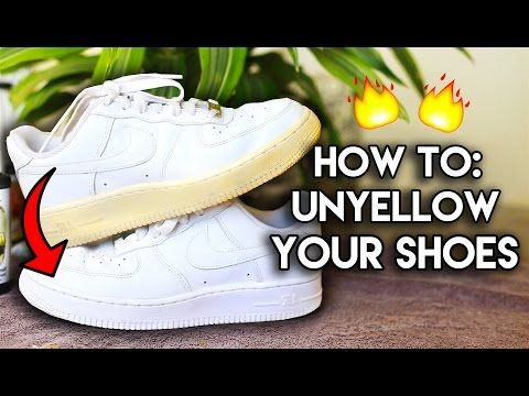 Most Frequently Asked Questions: How to Unyellow & Restore Yellowed Shoe Soles - YouTube