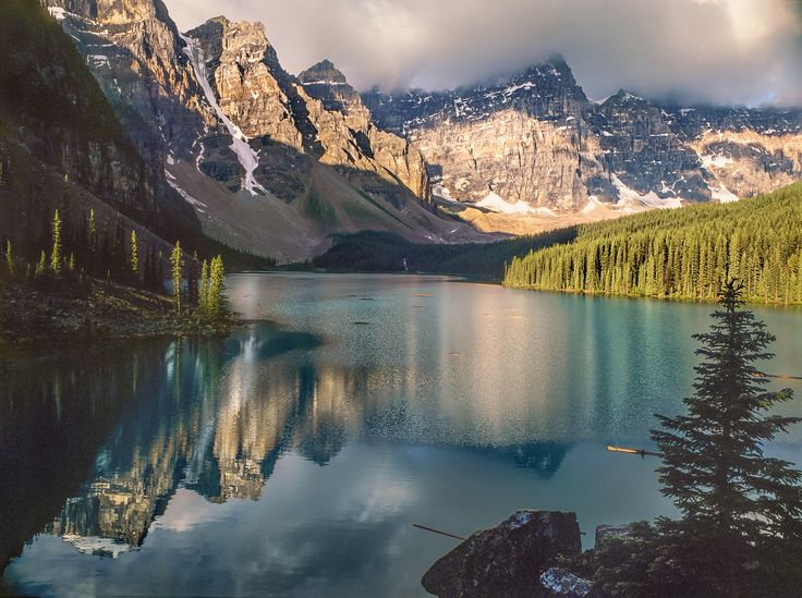 Lac Moraine by Yvon Lacaille  Summer morning at Moraine Lake, Alberta, Canada