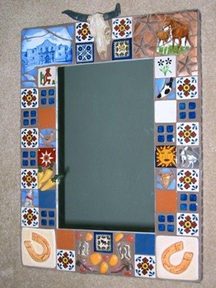 Handmade tile mirror