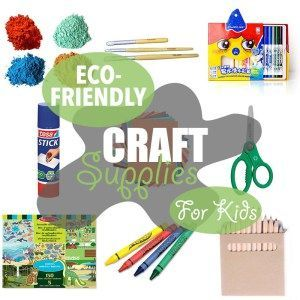 Eco-Friendly Craft Supplies for Kids | Craft supplies for kids are usually non-toxic, but that doesn't mean they're earth-friendly. Here are few non-toxic AND eco-friendly craft supplies.