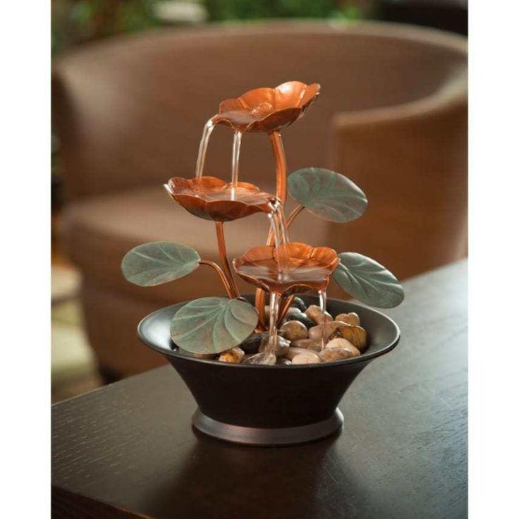Table Water Fountains Indoor Waterfall Garden Zen Small Tabletop Decor Desk NEW #BitsandPieces