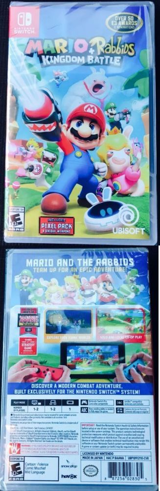 Video Gaming: Mario + Rabbids Kingdom Battle Nintendo Switch Brand New Sealed Unopened -> BUY IT NOW ONLY: $49.99 on eBay!