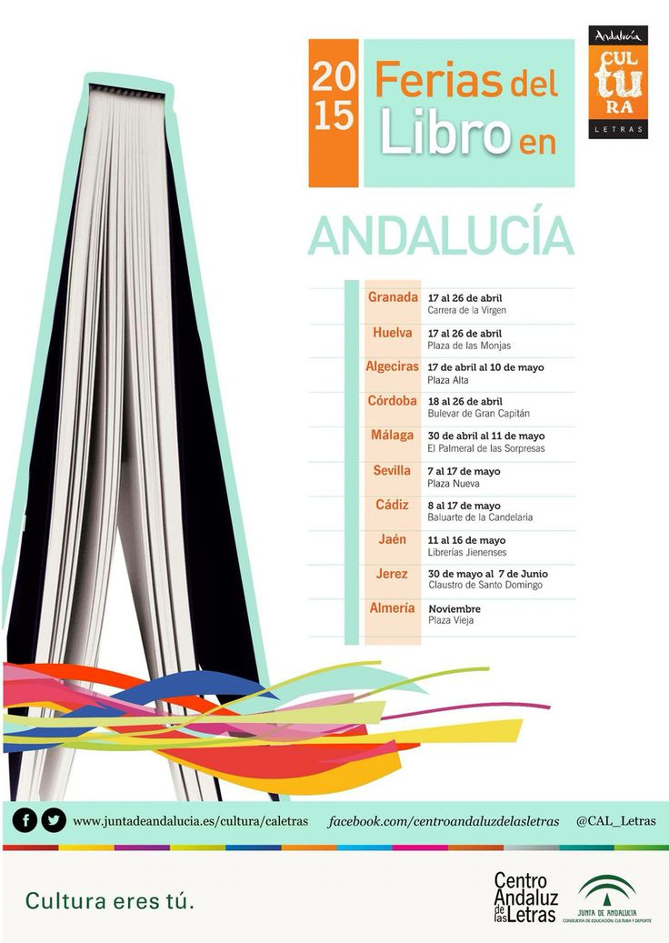 Calendario de Ferias del Libro de Andalucia