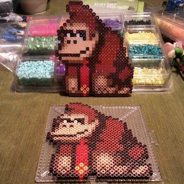Donkey Kong perler beads by raynapanda