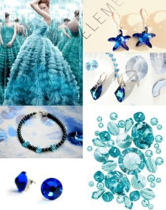blue swarovski www.zelodesign.ro