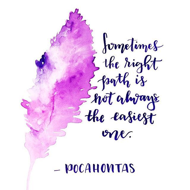 Pocahontas quote / Disney quotes / Hand lettering / Calligraphy / Watercolor feather / Boho
