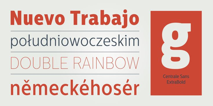 Centrale Sans Condensed Font Family Preview