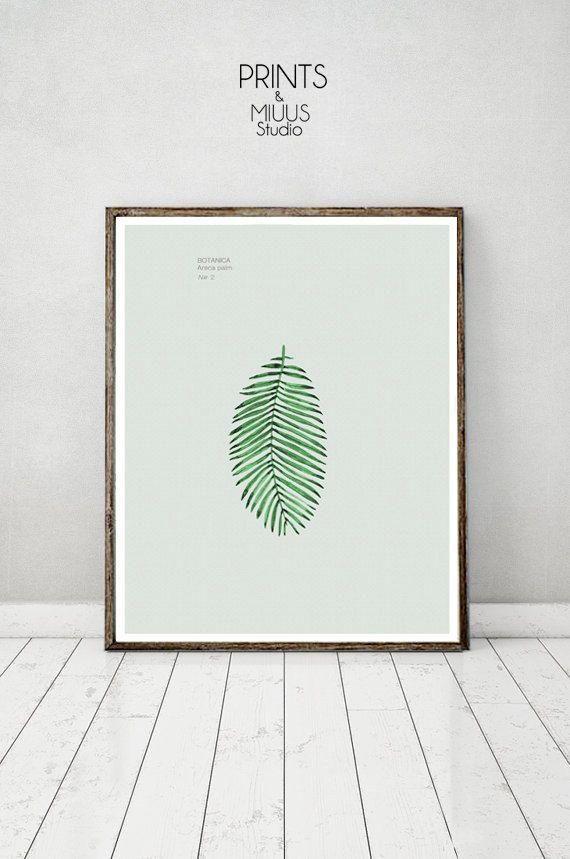 Tropical Wall Palm Leaf  Art Print Botanical by PrintsMiuusStudio