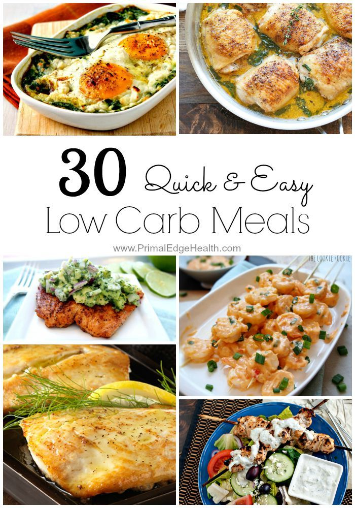 Quick and Easy Low carb meals
