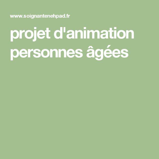 projet d'animation personnes âgées