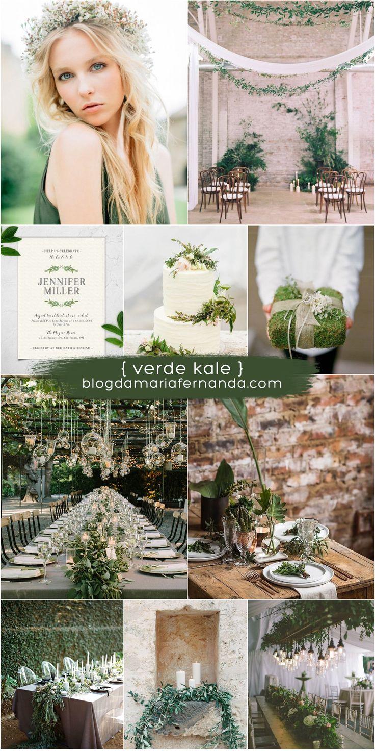 Decoração de Casamento : Paleta de Cores Verde Kale | Blog de Casamento DIY da Maria Fernanda