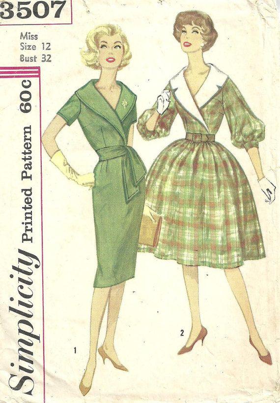 Eenvoud 3507 / Vintage naaien patroon / kleden / grootte 12 buste 32