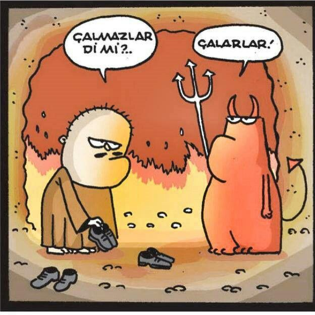 - Çalmazlar di mi?.. + Çalarlar! #karikatür #mizah