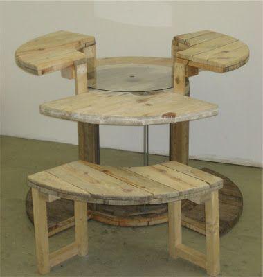 Como hacer un escritorio para pc con un carretel de madera