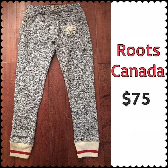 ROOTS CANADA ladies sweatpants NEW From Canadian clothing company- ROOTS. An adorable and super cozy pair of sweatpants. Purchased in Montreal at ROOTS store. Brand new- never worn. Size XS. Roots Pants Track Pants & Joggers