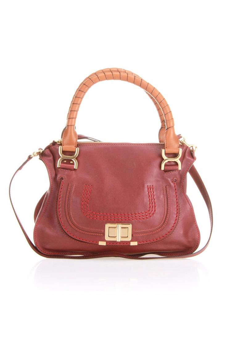 Chloe Marcie Lock Satchel In Red Velvet. | Handbag Inspiration ...