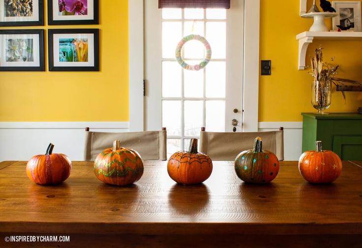 DIY Glitter Pumpkins for Halloween