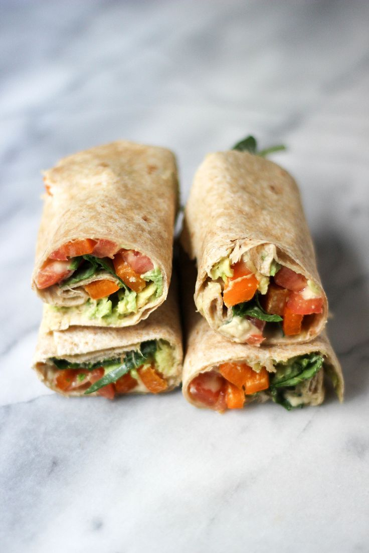 Hummus Veggie Wraps — Madeline Hall