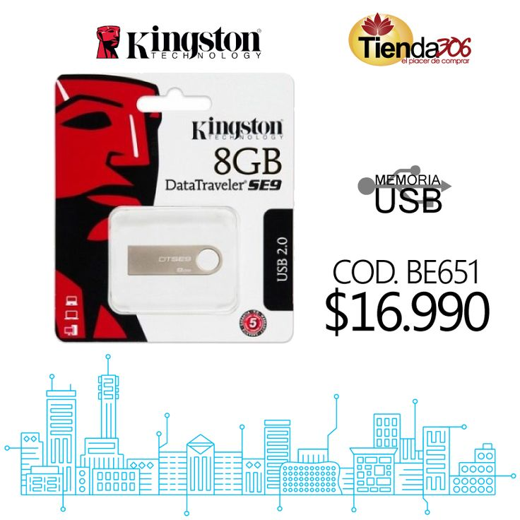 Memoria USB Kingston 8GB Datatraveler SE9