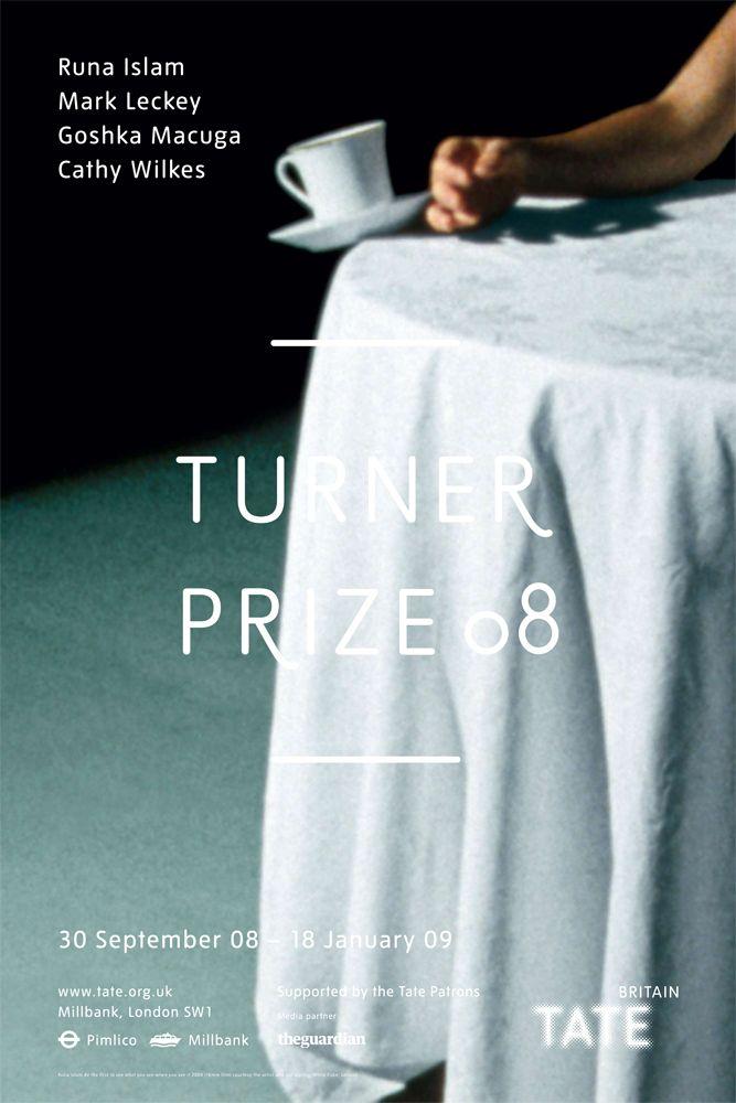 The Turner Prize 2008 shortlisted artists were Runa Islam, Mark Leckey, Goshka Macuga and Cathy Wilkes. The prize was awarded to Mark Leckey