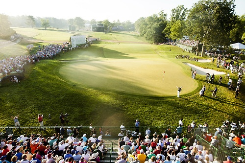 Beautiful Shot us open. I was sitting in those stands to the left