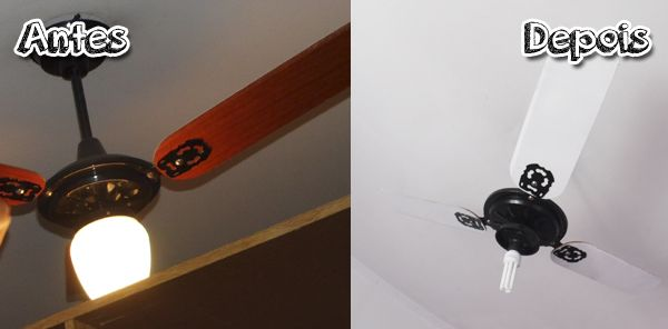 ♥ Reforma de Ventilador de teto http://www.garotacriatividade.com/garota-reforma-reforma-do-ventilador-de-teto/