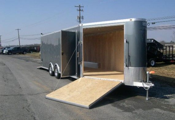Enclosed Motorcycle Shelter : Best ideas about enclosed car trailer on pinterest