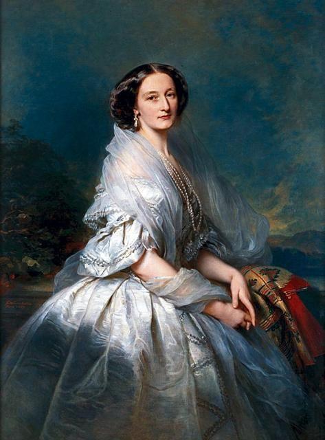 Portrait of Eliza Franciszka of Branicki Krasińska (wife of Zygmunt Krasinski) - Franz Xaver Winterhalter: