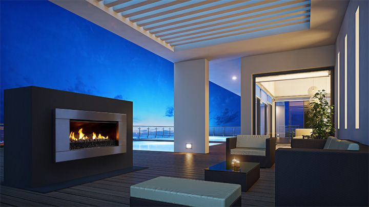 Escea EF5000 outdoor gas fireplace - for entertaining into the small hours.