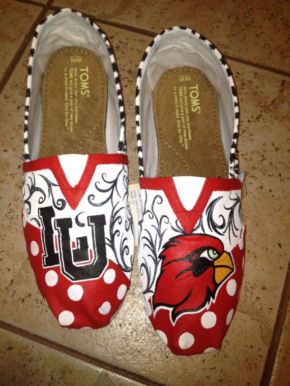 Lamar University hand paitned TOMS by solespirit on Etsy, $110.00