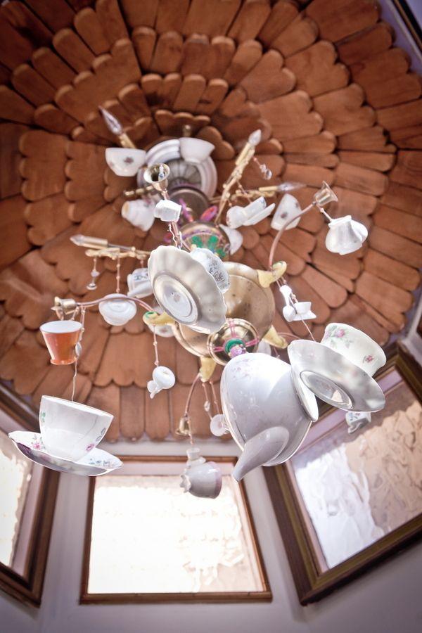 Teacup chandelier - such an amazing idea!