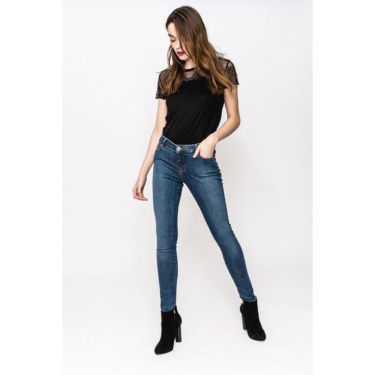 Sinéquanone Cyrielle Pantalon jean skinny délavé bleu
