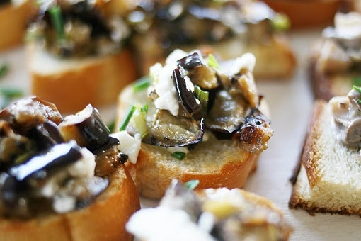 eggplant salad toast | What I want to EAT!!! | Pinterest