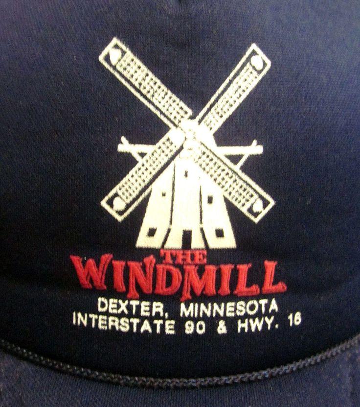 WINDMILL vtg trucker cap Dexter Minnesota hat Truckstop Interstate 90 snapback | eBay