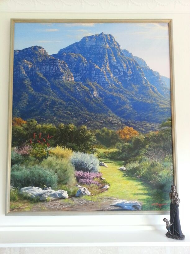 Andrew Cooper painting of Skeleton Gorge (bought Feb 2013)