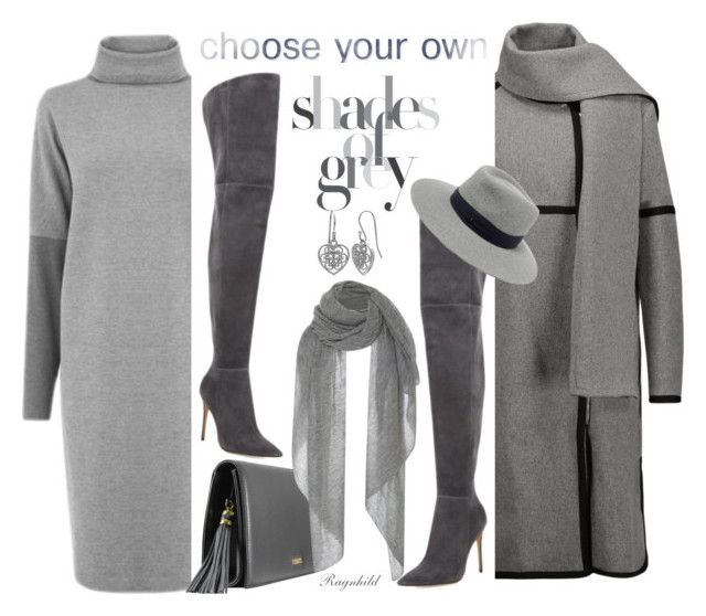 """""""Grey Winter Dress under $100"""" by ragnh-mjos ❤ liked on Polyvore featuring Warehouse, Belstaff, Isabel Marant, Gianvito Rossi, Maison Michel and Belk Silverworks"""