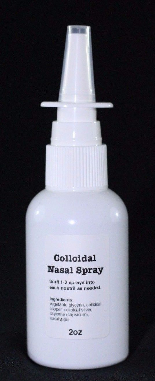 Homeopathic Remedies: Nano Ionic Colloidal Silver, Colloidal Copper Nasal Allergy Relief Spray BUY IT NOW ONLY: $37.97