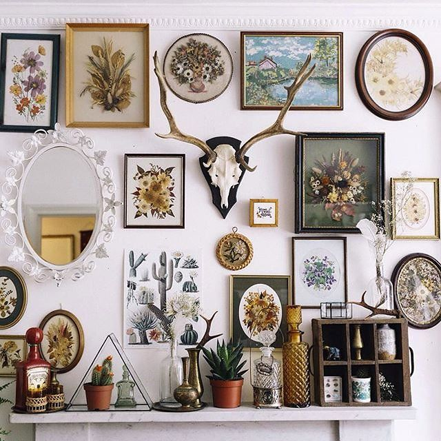 Create an inspiration gallery wall in studio/home
