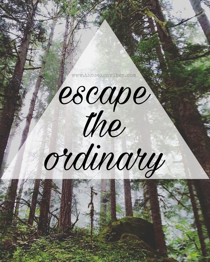 Escape the ordinary. Be unique, shine through the darkness and always be yourself