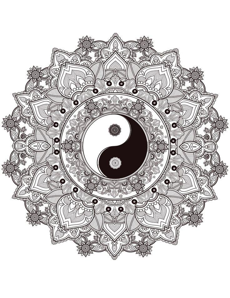Zen Yin Yang Tattoo Queen Mandala