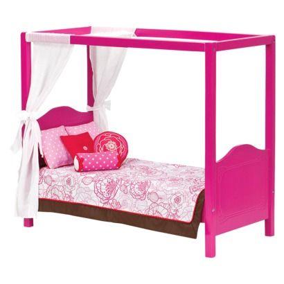 Log Bed Frame Canopy