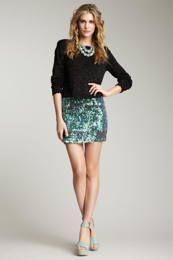 MINKPINK Splash Sequin Mini Skirt Nice little splash of color...usually I  would