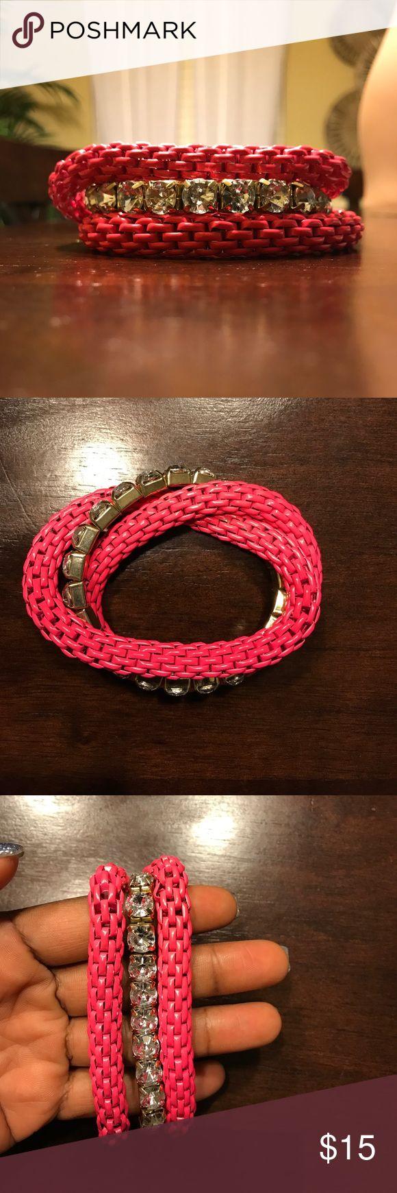 Pink/diamond bracelet stretchy Pink/diamond bracelet Jewelry Bracelets
